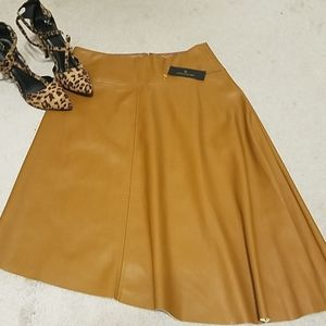 Worthington faux leather  skirt NWT